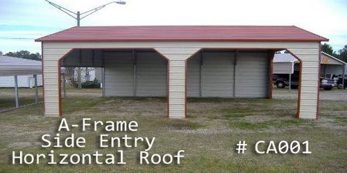 Arkansas Portable Buildings  - Carports - A Frame Horizontal