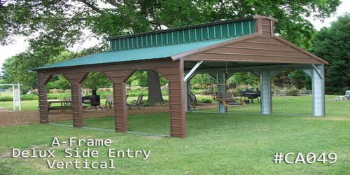 Arkansas Portable Buildings  - Carports - A Frame Vertical