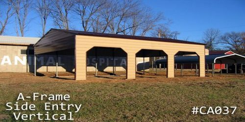 Arkansas Portable Buildings  - Carports - Side Entry