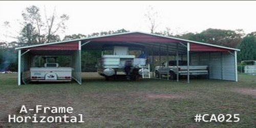 Arkansas Portable Buildings  - Carports - A Frame